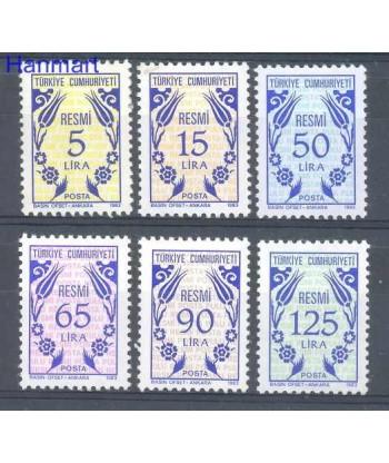 Turcja 1983 Mi 169-174 Czyste **