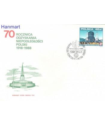 Polska 1988 Mi 3183 FDC