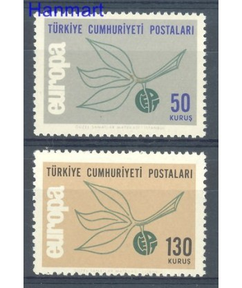 Turcja 1965 Mi 1961-1962 Czyste **