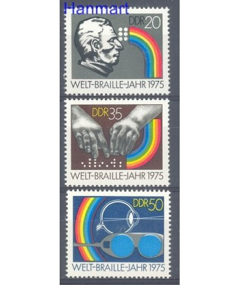 Niemiecka Republika Demokratyczna / DDR 1975 Mi 2090-2092 Czyste **