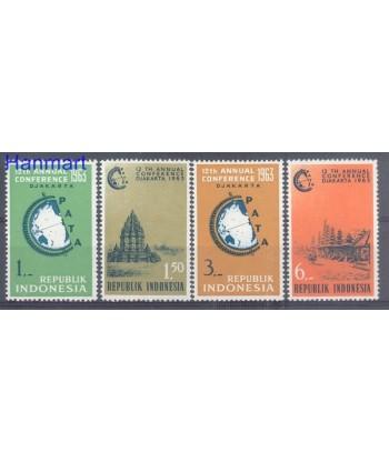 Indonezja 1963 Mi 384-387 Czyste **