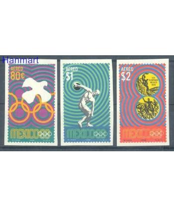 Meksyk 1968 Mi 1293-1295 Czyste **