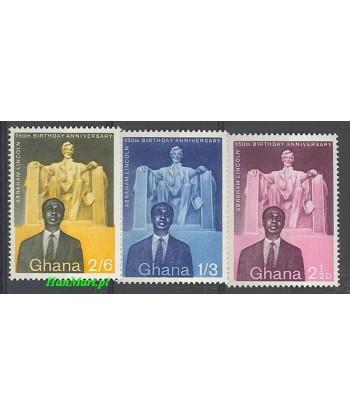 Ghana 1959 Mi 39-41 Czyste **