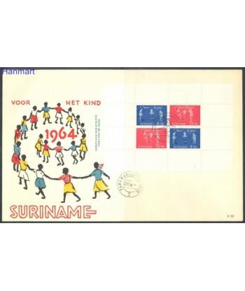 Surinam 1964 Mi bl 3 FDC