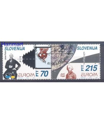 Słowenia 1994 Mi 80-81 Stemplowane
