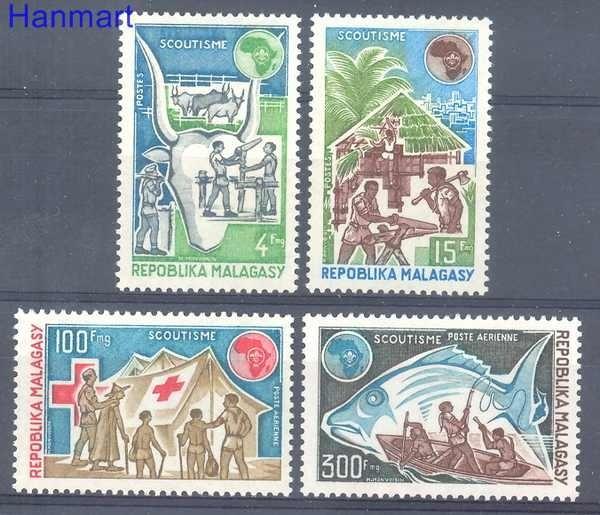 Madagaskar 1974 Mi 705-708 Czyste **