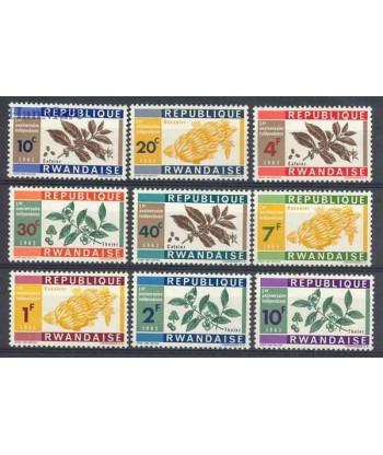 Rwanda 1963 Mi 27-35 Czyste **