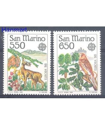 San Marino 1986 Mi 1339-1340 Czyste **