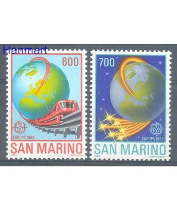 San Marino 1988 Mi 1380-1381 Czyste **