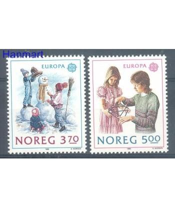 Norwegia 1989 Mi 1019-1020 Czyste **
