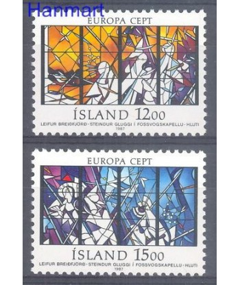 Islandia 1987 Mi 665-666 Czyste **
