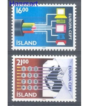 Islandia 1988 Mi 682-683 Czyste **