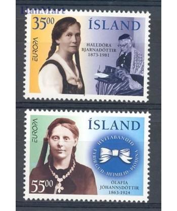Islandia 1996 Mi 844-845 Czyste **