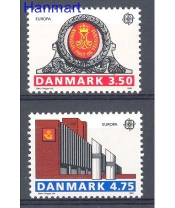 Dania 1990 Mi 974-975 Czyste **