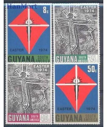 Gujana 1974 Mi 456-459 Czyste **