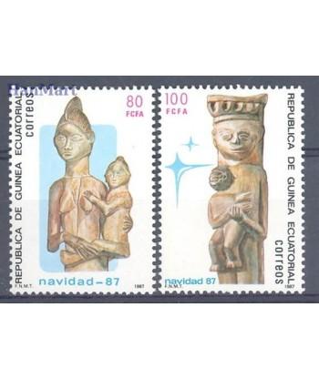 Gwinea Równikowa 1987 Mi 1691-1692 Czyste **