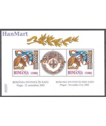Rumunia 2002 Mi bl 325 Czyste **