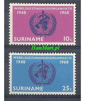 Surinam 1968 Mi 538-539 Czyste **
