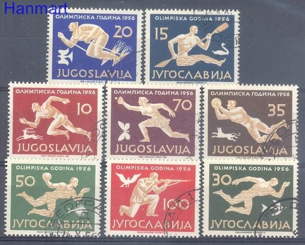 Jugosławia 1956 Mi 804-811 Stemplowane