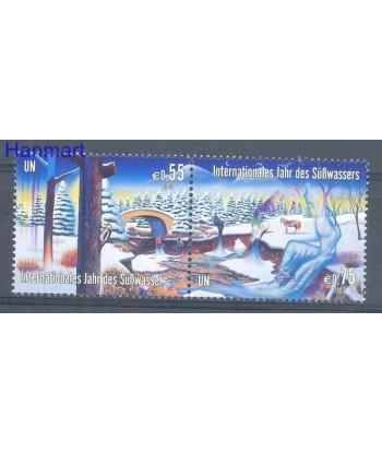 Narody Zjednoczone Wiedeń 2003 Mi 393-394 Czyste **
