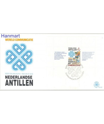 Antyle Holenderskie 1983 Mi bl 24 FDC