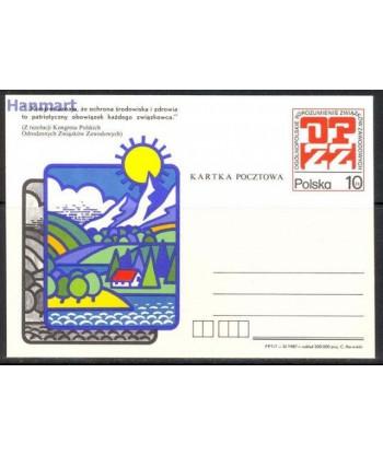 Polska 1987 Mi 969 Karty pocztowe czyste