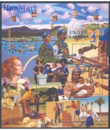 Narody Zjednoczone Nowy Jork 2000 Mi bl 19 Czyste **