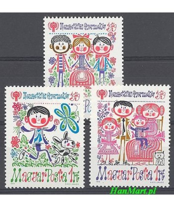 Węgry 1979 Mi 3335-3337 Czyste **
