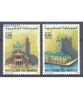 Maroko 2001 Mi 1382-1383 Czyste **