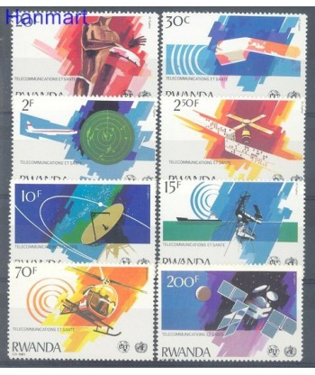 Rwanda 1981 Mi 1127-1134 Czyste **