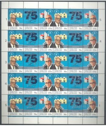 Antyle Holenderskie 1991 Mi 736-738 Czyste **