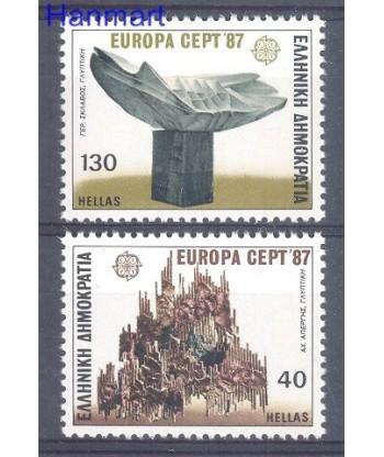 Grecja 1987 Mi 1651-1652 Czyste **