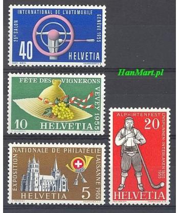Szwajcaria 1955 Mi 607-610 Czyste **