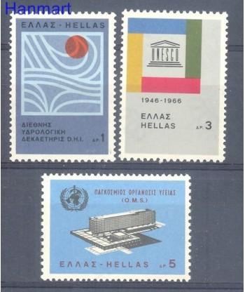 Grecja 1966 Mi 909-911 Czyste **
