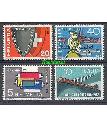Szwajcaria 1957 Mi 637-640 Czyste **