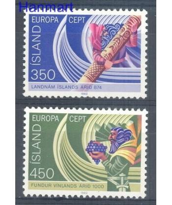Islandia 1982 Mi 578-579 Czyste **