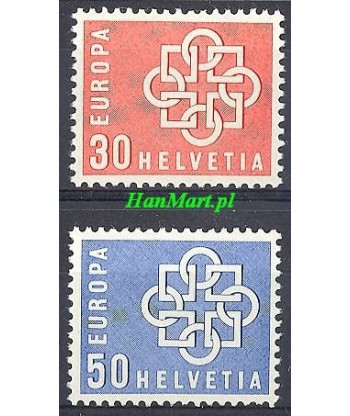 Szwajcaria 1959 Mi 679-680 Czyste **