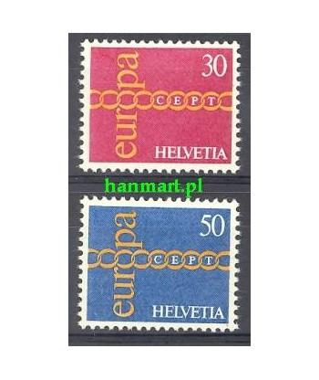 Szwajcaria 1971 Mi 947-948 Czyste **