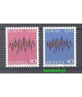 Szwajcaria 1972 Mi 969-970 Czyste **