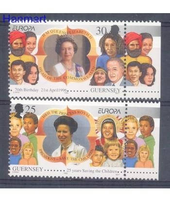 Guernsey 1996 Mi 691-692 Czyste **