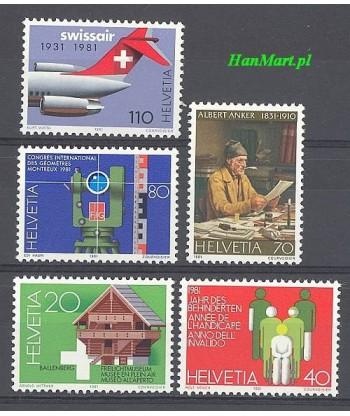 Szwajcaria 1981 Mi 1191-1195 Czyste **