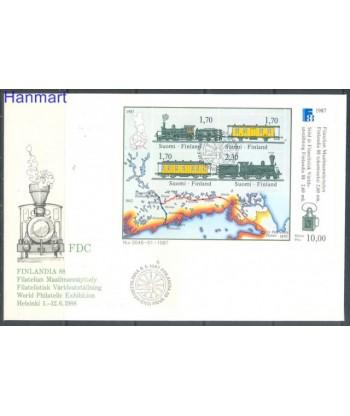 Finlandia 1987 Mi bl3 FDC