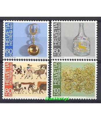 Szwajcaria 1993 Mi 1502-1505 Czyste **