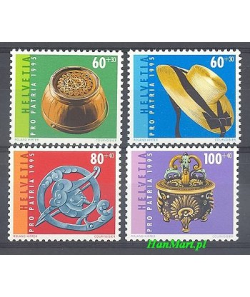 Szwajcaria 1995 Mi 1548-1551 Czyste **
