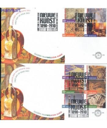 Holandia 2001 Mi 1885-1894 FDC