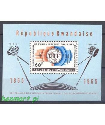 Rwanda 1965 Mi bl 4 Czyste **