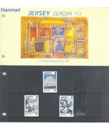 Jersey 1993 Mi 612-614 Czyste **