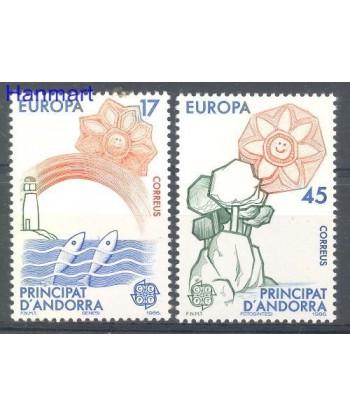 Andora Hiszpańska 1986 Mi 188-189 Czyste **