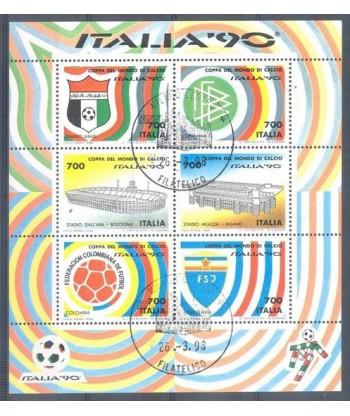 Włochy 1990 Mi bl 6 Stemplowane