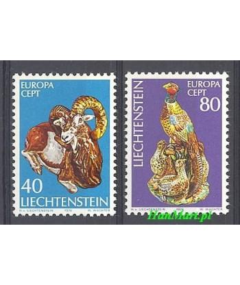 Liechtenstein 1976 Mi 642-643 Czyste **